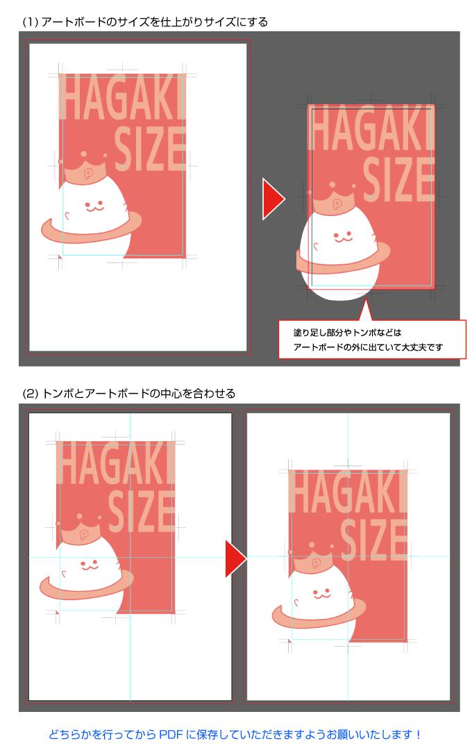 PDF保存の前にアートボードの位置とサイズを確認してください