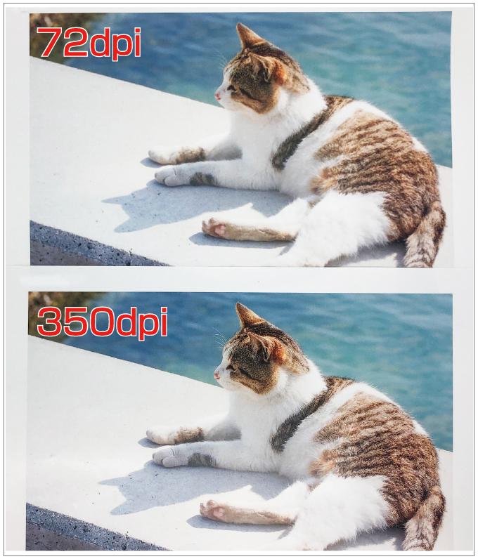 解像度を比較するための画像